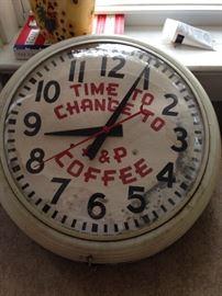 Advertising Clock - A & P