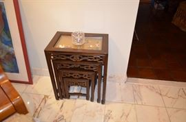 Chinese Hardstone Nesting Tables