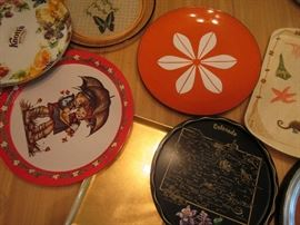 lots of vintage serving pieces including Catherineholm lotus plate