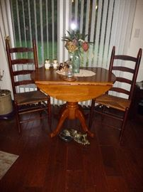 crock / table / ladder back chairs