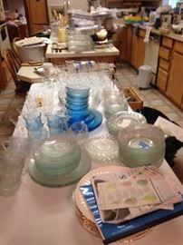 More stemware & glass dishes