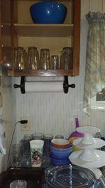 cake pedestals, glassware