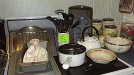 bakeware, canister set, cooking utensils