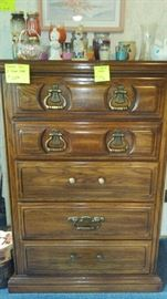 American Drew five drawer chest of drawers