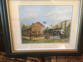 Art Train Print