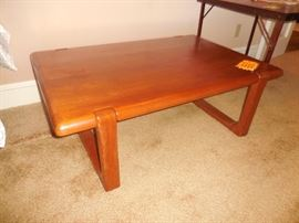 "NIELS BACH TEAK WOOD TABLE MID CENTURY ""SIGNED"""