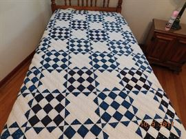 Vintage handmade quilts.