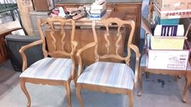 Dining room set-  drop leaf table with 2 leaves,6 chairs,server and buffet.