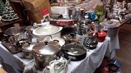 Kitchenware- pots,pans,baking pans,crock pot,roasting pans , irons .