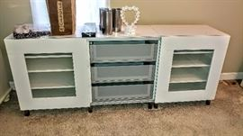 Ikea cabinet with two slider doors and 3 drawers