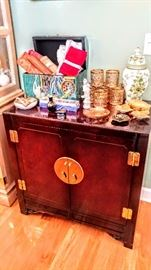 Asian cabinet, perfect for a small bar