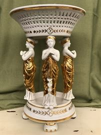 Grecian Porcelain Plant Stand