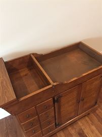 Solid Maple Sideboard w/Copper Dry Sink