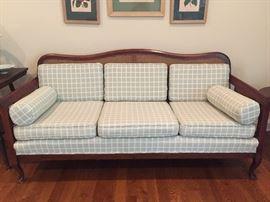 Vintage Cane Back Sofa