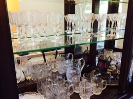 Rose point by Cambridge Stemware Galore