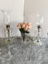 Crystal Boudoir Lamps