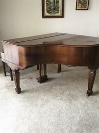Baby Grand Piano Behr Bros & Co New York