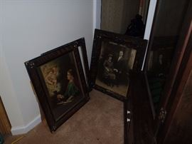 ANTIQUE PICTURES AND FRAMES