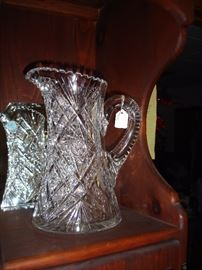 Cut Crystal Pitcher