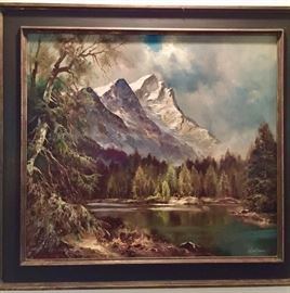 Lechner oil on canvas