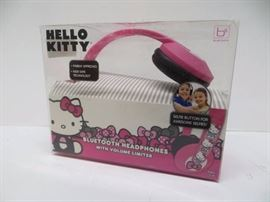 Hello Kitty bluetooth headphones with volume limiter