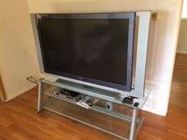 Sony TV, stand and DVD player