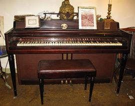 Wurlitzer leatherette side vintage piano