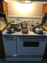 Awesome pots and pans....AND the stove is for sale!!