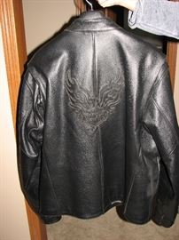 Heavy 2XL Harley Davidson Jacket - Flaming Eagle