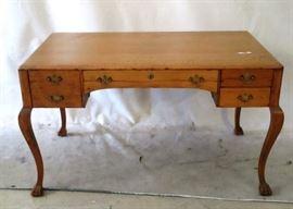 Tiger oak writing desk
