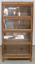 Hale oak 4 stack bookcase