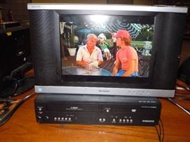 Flat Screen TV with Combo DVD/VCR Player