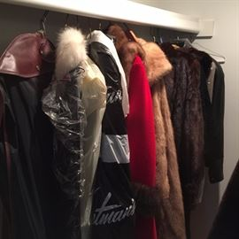 Vintage Furs & leathers- many from Hudson's Detroit-other side of walk-in closet  is full too