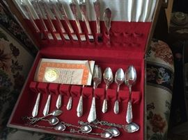 Rogers Oneida Silver Plated Flatware set in box