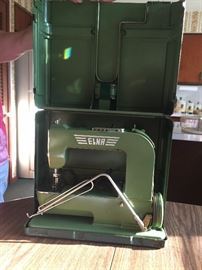 1945 Elna 'Grasshopper' sewing machine with original instructions.  Art Deco.  Super clean! Stored upstairs.