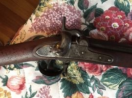 1852 Springfield Civil War Musket- too long for picture.  Nice condition.