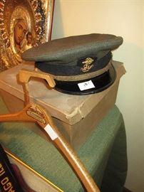 military cap in it's own box
