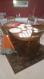 100 year old Oak Kitchen Table and 6 chairs!  Amazing condition!
