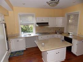 kitchen cabinets granite counter tops ,refrigerator