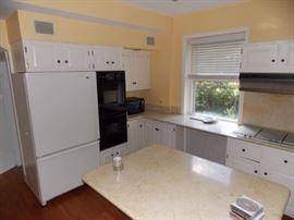 refrigerator kitchen cabinets