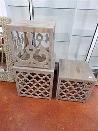 Modern Trellis Designs Patio Side Tables