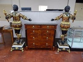 Century Furn. NC, Marble Top Chest