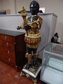 Gilt & Paint Decorated, Marble Base