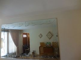 Mid Century Etched Wall mirror