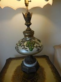 Glass Grapes, Hand Painted (2) Lamps