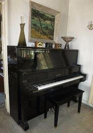 Great Kawaii Ebony Upright Piano, BL - 71