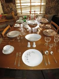 """Great 1960's and 50's Retro Dishes and Stemware, including """"Platinum Starburst"""" by Creative."""