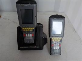 2 PSION TEKLOGIX model #7530 scan guns with 1 docking station and 3 battery's