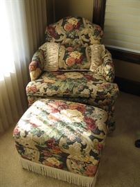 Small Chair with Ottoman...