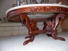 underside of coffee table